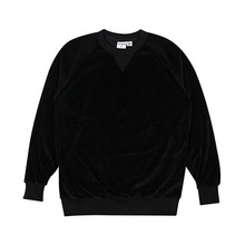 (50%세일)[HOUNDVILLE] SWEET VELOUR Crewneck - Black