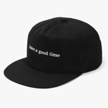 [Have a good time] Side Logo Snapback - Black