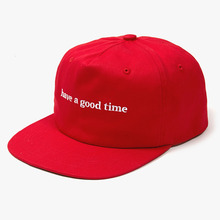 [Have a good time] Side Logo Snapback - Red