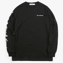 [Have a good time](30%세일) Arm Side Logo L/S Tee - Black