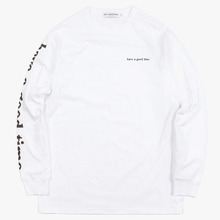 [Have a good time](30%세일) Arm Side Logo L/S Tee - White