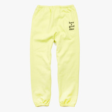 [Have a good time] Logo Sweat Pants - Neon Yellow