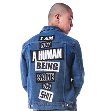 The Legendary Out Patched Denim Jacket - Blue