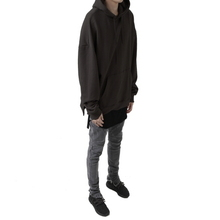 [FADE6] Overfit Terry Hoodie - Blackish Brown