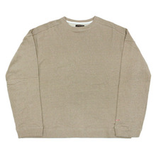 [Nameout] Basic Oversized Crewneck Sweatshirts - Beige