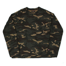 [Nameout] Basic Oversized Crewneck Sweatshirts - Camo