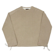 [Nameout] Cropped Crewneck Sweatshirts - Beige