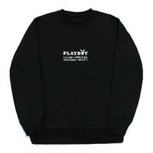 PLAY BOY X I am Not a Human Being Mix Logo Crewneck - Black