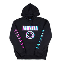 [IDC WEAR] NIRVANA 3C HOLOGRAM HOODIE - BLACK