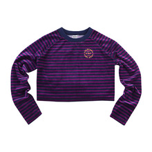 [RUTHLESS][30%할인] Velour Cropped Tee - Purple