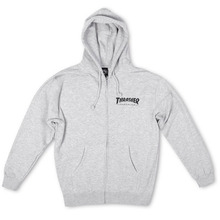 [Thrasher] Mag Logo Zip Hood - Grey