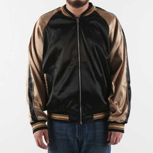[EPTM] PLAIN SATIN JACKET - BLK/TAN