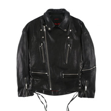 [Alleyesonyou][20%할인] Vice City RIDER JACKET SHEEPSKIN LEATHER - Black