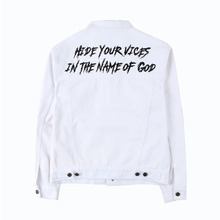 [Alleyesonyou][20%할인] VICE CITY DENIM JACKET - White