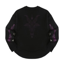 [Alleyesonyou][20%할인] VICE CITY CURSED GOAT BLACK SWEAT SHIRT - Black