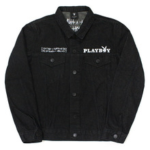 PLAY BOY X I am Not a Human Being Denim Jacket - Black