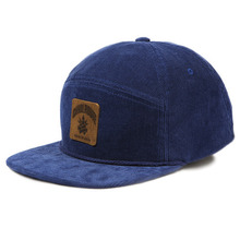 [Candlroute] Corduroy Snapback - Navy