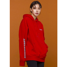 [OURHISTORY]Logo Reflective Hoodie - Red