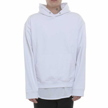 [Coup de Grace] NEW DROPPED SHOULDER HOODIE - WHITE