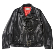 [EASY BUSY] Double Leather Jacket - Black