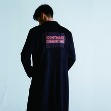 [51PERCENT] IDM Signature Detail Coat - Black(주문제작상품)