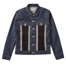 [EASY BUSY] Knit Detail Denim Jacket D
