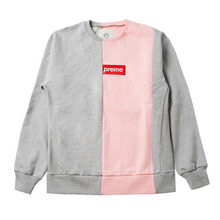 [e by EASY BUSY] Preme Sweatshirts - Pink/Grey