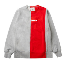 [e by EASY BUSY] Preme Sweatshirts - Red/Grey