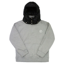 [e by EASY BUSY] Padding Pullover Anorak Hoody - Black/Grey