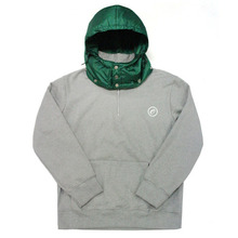 [e by EASY BUSY] Padding Pullover Anorak Hoody - Green/Grey