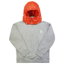 [e by EASY BUSY] Padding Pullover Anorak Hoody - Orange/Grey