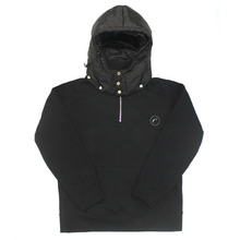 [e by EASY BUSY] Padding Pullover Anorak Hoody - Black/Black