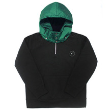 [e by EASY BUSY] Padding Pullover Anorak Hoody - Green/Black