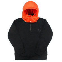 [e by EASY BUSY] Padding Pullover Anorak Hoody - Orange/Black