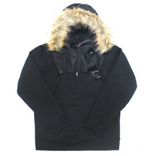 [e by EASY BUSY] Parka Pullover Anorak Hoody - Black/Black