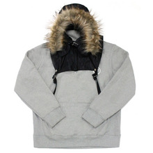 [e by EASY BUSY] Parka Pullover Anorak Hoody - Black/Grey