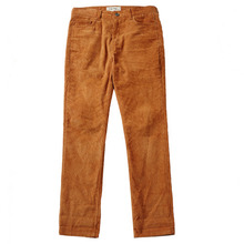 [e by EASY BUSY] Vortex Detail Corduroy Pants - Brown