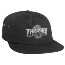 [HUF x Thrasher] TDS 6 Panel Cap - Black