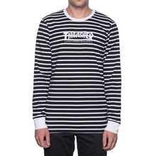 [HUF x Thrasher] TDS Stripe Crewneck - Black