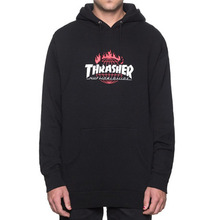 [HUF x Thrasher] Tour De Stoops Hood - Black