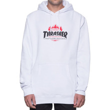 [HUF x Thrasher] Tour De Stoops Hood - White