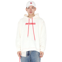[HAN CHUL LEE]SIDE OPEN HOODIE - RED WHITE