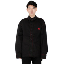 [HAN CHUL LEE]SPLIT SHIRTS - RED BLACK