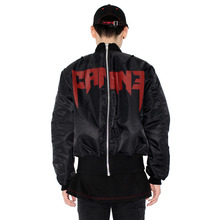 [HAN CHUL LEE]BACK ZIPPER MA-1 - BLACK