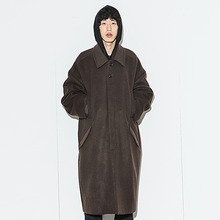 [AJOBYAJO] [20% 할인] Oversized Macintosh Coat - Brown
