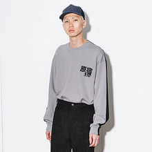 [AJOBYAJO] [20% 할인] Twofold Sweat Shirt - Grey/Black