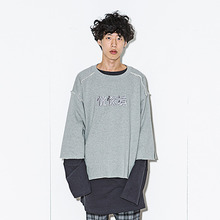 [AJOBYAJO] [20% 할인] Oversleeve Sweat Shirt - Grey
