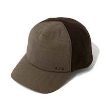 [AJOBYAJO] Suede/Check Cap - Brown
