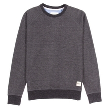 [WEMOTO] (40%세일) KENNY CREWNECK - BLACK MELANGE(81.403-101)