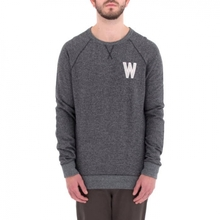[WEMOTO] (40%세일) WADE CHEST CREWNECK  - BLACK MELANGE(71.414-101)